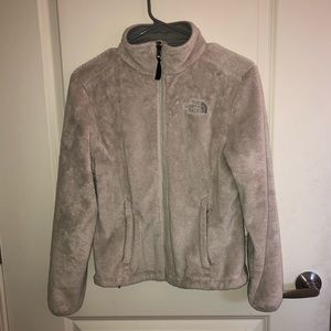 North face fuzzy zip up size XS